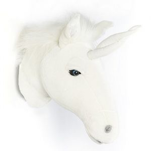 Dierenkop Unicorn wit Wild&Soft