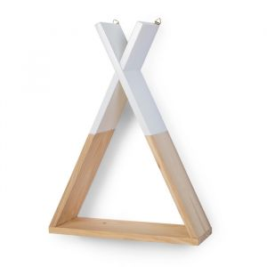 Tipi wandplank wit-naturel Childwood