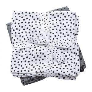 Hydrofiele doeken Happy Dots grijs (2st) Done By Deer