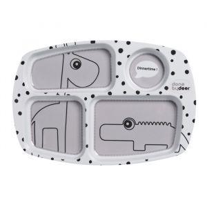 Bord met vakken Happy Dots grijs Done By Deer