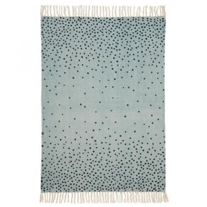 Vloerkleed stippen blauw Done By Deer