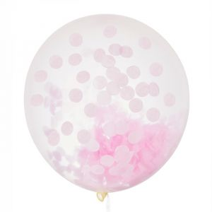 Mega confetti ballon roze 60cm House of Gia