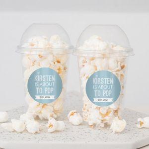 Ready to pop babyshower popcorn beker jongen