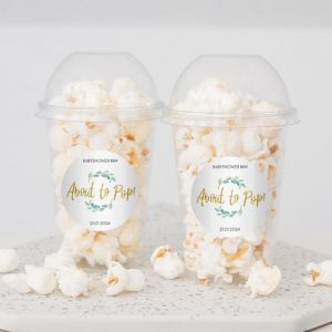 Oh baby babyshower ready to pop popcorn beker