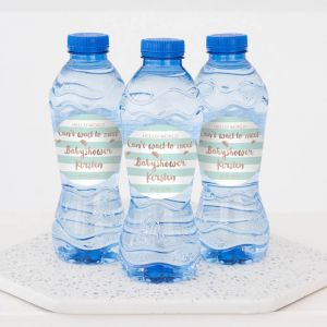 Hello world babyshower flesje water