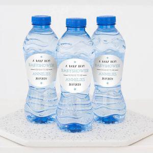 Babyshower drinks jongen flesje water