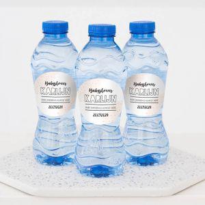 Babyshower drinks flesje water peach