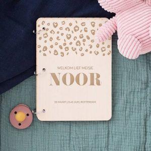 Gepersonaliseerd babyboek panter