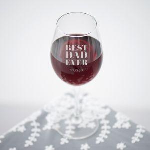 Wijnglas graveren best dad met naam