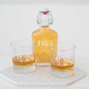 Whisky beugelfles best dad met naam