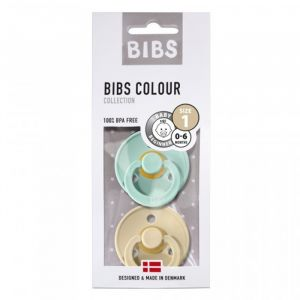 Bibs fopspenen set mint/beige