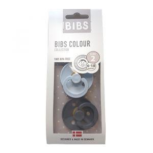 Bibs fopspenen set iron/baby blue