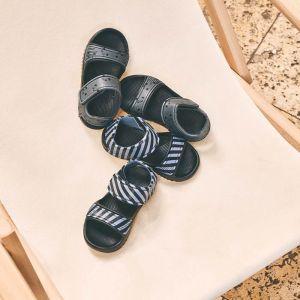 Sandalen Blumer Stripe blue wave/black Liewood