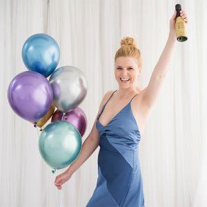 Chroom ballonnen blauw (10st) House of Gia