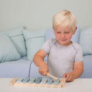 Houten xylofoon Adventure Blue Little Dutch