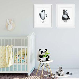 Aquarel poster baby panda illustratie door Sophie de Ruiter