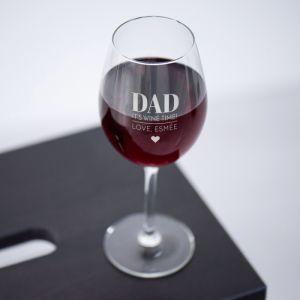 Wijnglas graveren DAD met naam