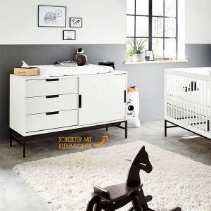 Commode Steel extra breed wit-zwart Pinolino