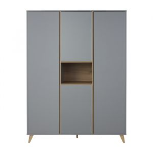 Kledingkast Loft XL grijs kleuren Quax