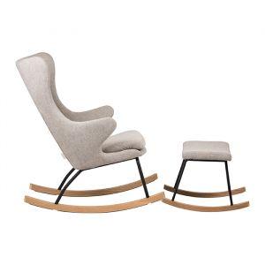 Voetenbankje schommelstoel De Luxe sand grey (adult) Quax