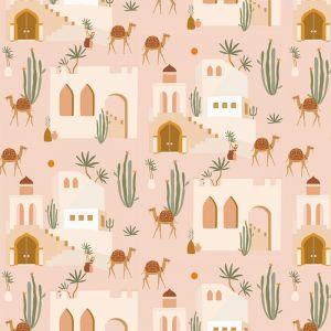 Behang Oasis pink May & Fay
