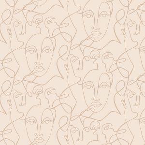 Behang Facing Lines beige (280x159cm) May & Fay