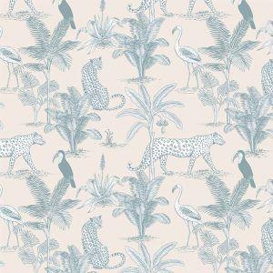 Behang Jungle blue May & Fay