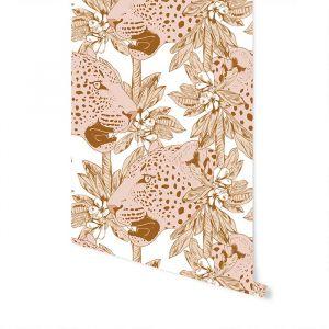 Behang Pinky Leopard May & Fay