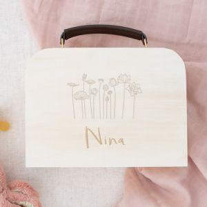 Gepersonaliseerd houten koffertje lotus