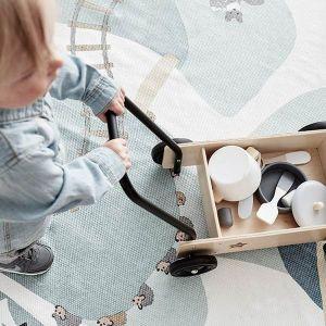 Houten wandelwagen NEO naturel-zwart Kids Concept