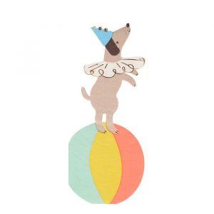Servetten Circus hond (16st) Meri Meri