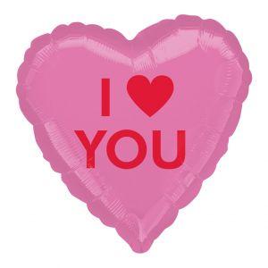 Folieballon hart I Love You (43cm)
