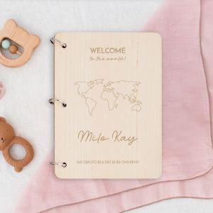 Gepersonaliseerd babyboek wereldkaart