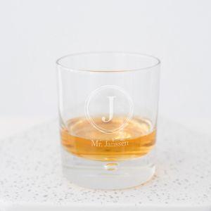 Whiskeyglas Infinity gepersonaliseerd Mr of Mrs met achternaam