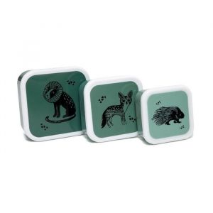Lunchbox set Black Animals Salie (3st) Petit Monkey