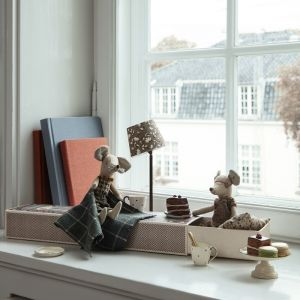 Miniatuur vloerlamp antraciet Maileg