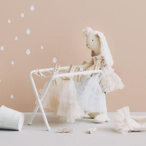 Miniatuur droogrekje met knijpers Maileg