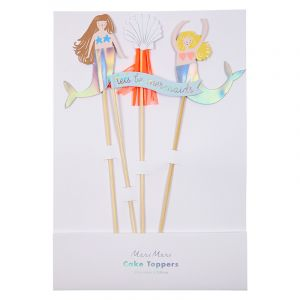 Cake toppers Let's be Mermaids Meri Meri (4st)
