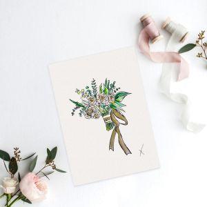 Persoonlijke illustratie bruidsboeket Sophie de Ruiter