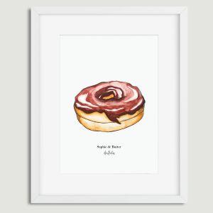 Aquarel illustratie donut door Sophie de Ruiter