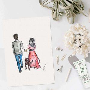 Persoonlijke illustratie gezin door Sophie de Ruiter