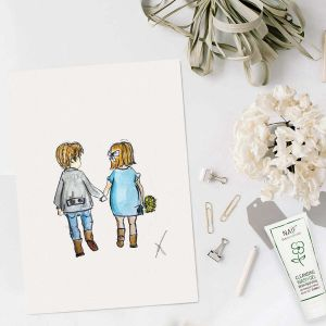 Happy family illustratie door Sophie de Ruiter