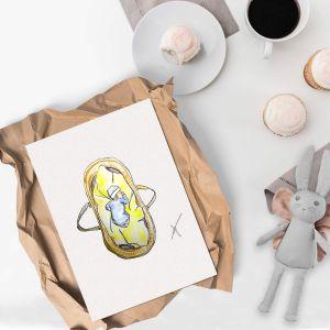 Illustratie baby door Sophie de Ruiter