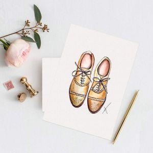 Persoonlijke illustratie trouwschoenen Sophie de Ruiter