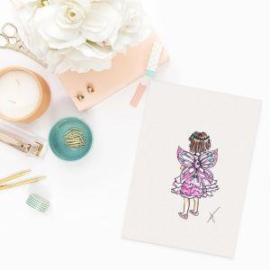 Illustratie kindje in verkleedpakje door Sophie de Ruiter