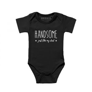 Handsome just like my dad romper zwart