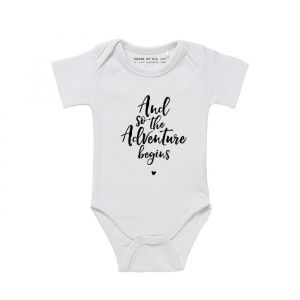 Baby Romper And so the Adventure Begins
