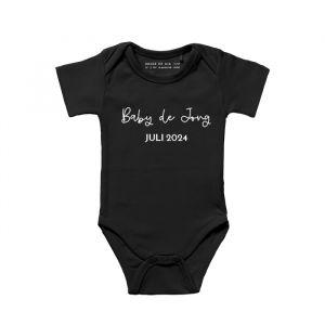 Rompertje zwangerschapsaankondinging baby en achternaam
