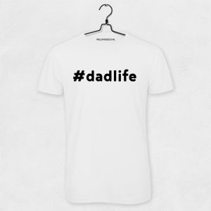 #DADLIFE t-shirt wit