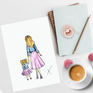 Persoonlijke illustratie ouder met kind door Sophie de Ruiter